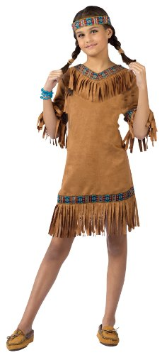 Halloween FX American Indian Girl Child Costume (Small)]()