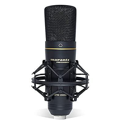 Marantz Professional MPM-2000U | Studio Condenser USB Microphone with Shock Mount, USB Cable & Carry Case (USB Out) from inMusic Brands Inc.