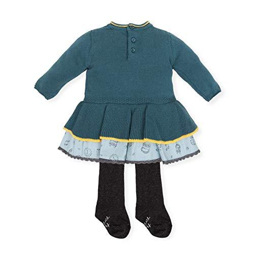 Tutto Piccolo Vestido Niña de 3 Meses a 6 Años con Leotardos Ropa de Bebé Niña Temporada Otoño-Invierno Color Azul 5214W18: Amazon.es: Ropa y accesorios