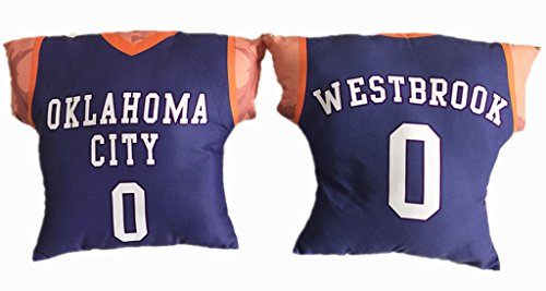 Russell Cotton Throw (Personalized Designed Russell Westbrook Basketball Jersey Style Cotton Insert Pillow Cushion)