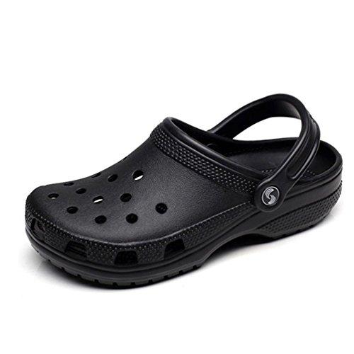 Casuales Huecos los Deslizamiento Hombres Playa en Zapatillas Zapatos Negro Sandalias Verano de de Hombres 5qwv18n