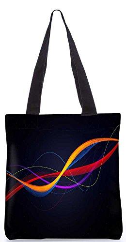 """Snoogg Bunte Design - Muster - Einkaufstasche 13,5 X 15 In """"Einkaufstasche Dienstprogramm Trage Von Polyester Canvas"""