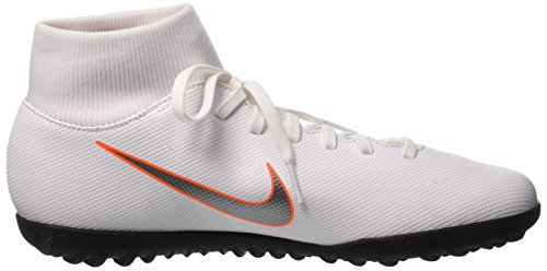 Orange NIKE Club 107 Grey Tf Footbal Total Black 6 Adults' Superflyx Shoes Cool White Mtlc Unisex rUIq4r6