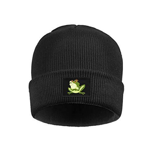 - Men and Women Knitting Beanie Hats Funny Green Prince Frog with Crown kiss Summer Deliciously Soft Knit Caps