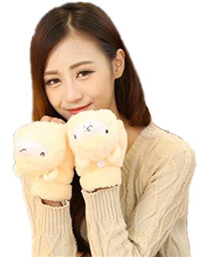 打ち上げる結婚ペイント(リアルスタイル) Real Style レディース 手袋 ふわふわ もこもこ 防寒 冬 可愛い ヤギの手型 スマホ に便利 肉球 ツメ 付き 動物 あったか アニマル手袋