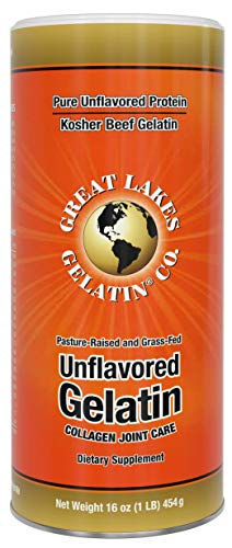Great Lakes Gelatin, Certified Paleo Friendly, Keto Certified, Beef Gelatin Collagen Protein, Pasture-Raised, Grass-Fed, Non-GMO, Kosher, 16 oz. - FFP