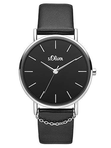 s.Oliver Womens Analogue Quartz Watch with Leather Strap SO-3739-LQ
