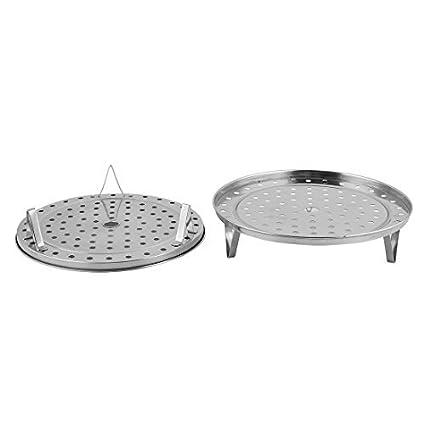 eDealMax metal del hogar de la herramienta de cocción al vapor del bollo del pan en