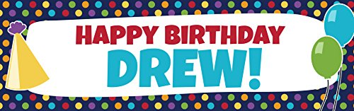 Personalized Birthday Cheer Banner (Vinyl Birthday Banners Personalized)