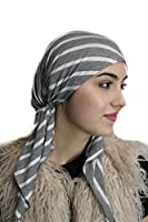 Soft Jersey Knit Pre Tied Fitted Womens Bandana Womens Head Wrap Scarf One Size Fits Most, Many Colors