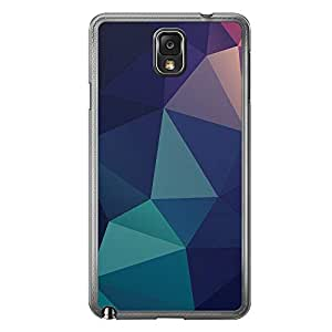 Loud Universe Samsung Galaxy Note 3 Geometrical Printing Files A Geo 20 Printed Transparent Edge Case - Multi Color