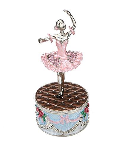 Dancing Ballerina Music Box Set w/ Swarovski Crystals - Music Box, Dancing Music Box, Music Box Ballerina