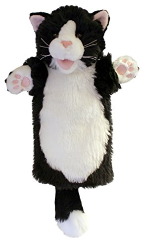 The Puppet Company Long-Sleeves Black & White Cat Hand Puppet