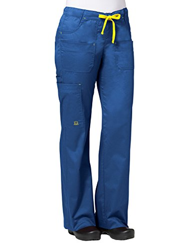 Maevn Blossom Women's Utility Cargo Pants (Large Petite, Royal Blue)
