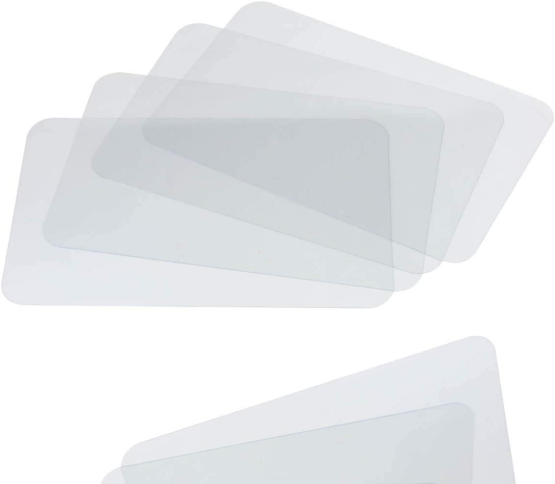Clear Placemat Set of 4 – Washable Dining or Kitchen Table Mat – Plastic - Heat Resistant