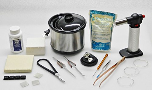 Jewelry Soldering Kit Torch Pickle Pot Tools Solder Supplies & Repair Jewelry (M Box)