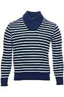 Polo Ralph Lauren Men's Striped Pullover Top [White Navy Blue]