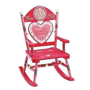 time out girls kids rocking chair timer naughty children furniture wood wooden. Black Bedroom Furniture Sets. Home Design Ideas