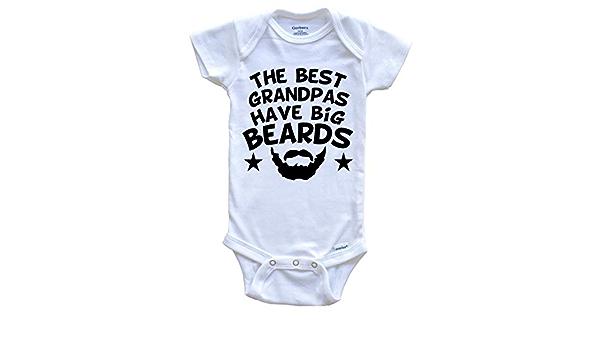 The Best Grandpas Have Big Beards Onesie Funny Grandchild Baby Bodysuit