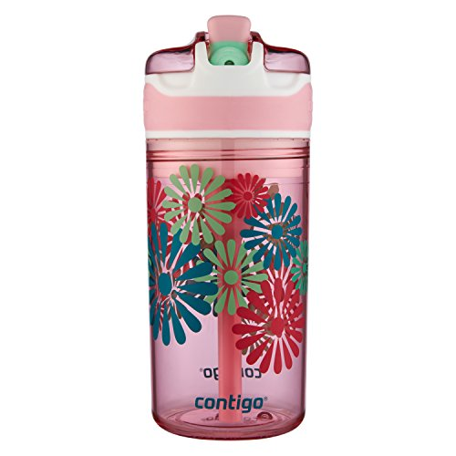Contigo 2-in-1 Snack Hero Kids Tumbler and Snack Container, 13 oz, Ballet Slipper with Flowers