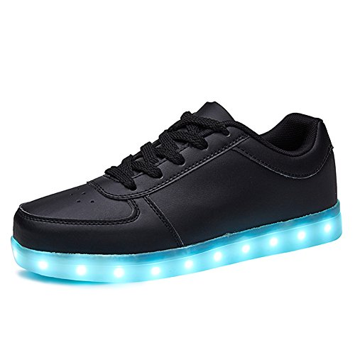 Sanyes USB Charging Light Up Shoes Sports LED Shoes Dancing Sneakers SYDB551-Black-44]()
