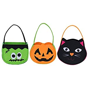NIGHT-GRING Halloween Candy Goody Bag Basket Bucket Treat or Trick Hand Bag Festival Party Bags