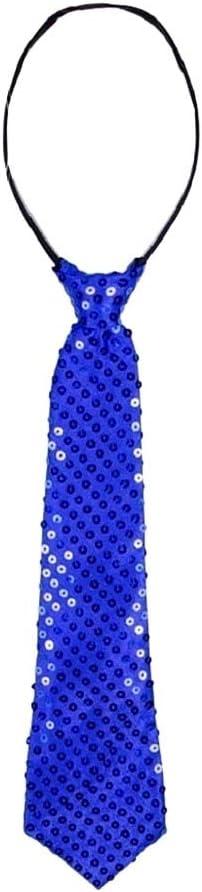 LEGISDREAM Cravatta con Paillettes Colore Rosa Sfavillante Accessorio per Party