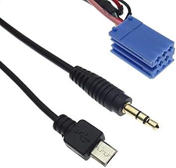Adaptador AUX Line IN con función de Carga para Smartphone, Radio, Micro USB, Clavija de 3,5 mm, Compatible con Mercedes Audio 5 Crafter NG BE9012: Amazon.es: Electrónica