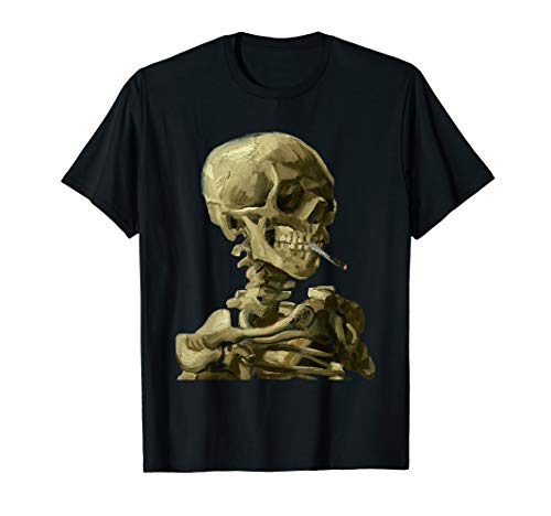 Vincent Van Gogh Skull With Cigarette Skeleton -