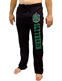 Harry Potter All Houses Hogwarts Crest Logos Men's Pajama Pants Black