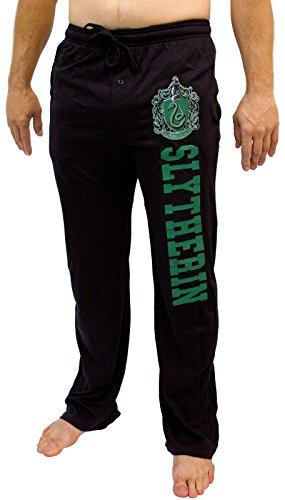 Hogwarts Harry Potter Slytherin Men's Pajama Pants Size: Medium (Potter Harry Pants)