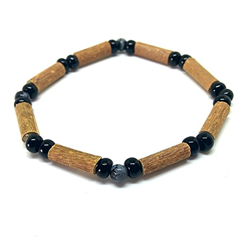 Pure Hazelwood Single Bracelet Snowflake Obsidian for Adults Natural S11 (8