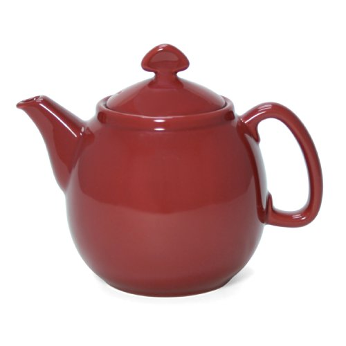 - Chantal 3-Cup Small Teapot, Glossy Apple Red
