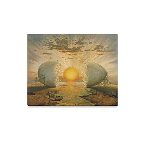 Famous Wall Painting Salvador Dali Artwork Yolk Shine Egg Sun Pattern Home Decorative Canvas Prints- 20x16 Inch(One Side) (Salvador Dali Artwork)