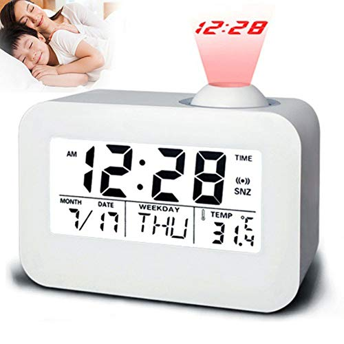 Chirpa Electronic LCD Projector Alarm Clock Time Temperature