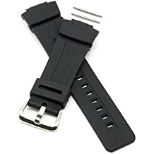 PERFIT Casio Replacement Watch Band + Spring Rods for G-Shock G100 G101 G200 G2110 G2300 G2310 G2400 GW2300 GW2310