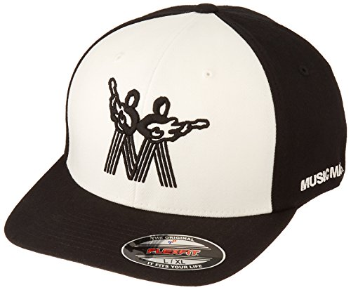 Music Music Black Cap - Ernie Ball Large Vintage Black with White Front and Black Music Man Logo Hat