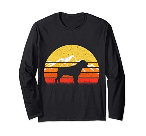 Retro Vintage Rottweiler  Silhouette  Long Sleeve T-Shirt