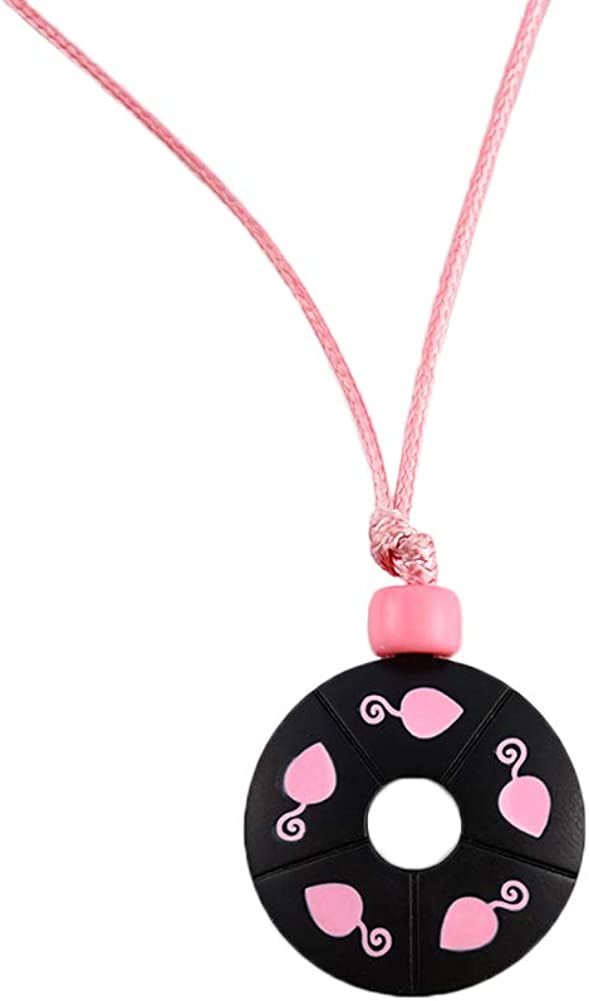 hanreshe Miracle Ladybug Necklace Comic Necklace Lady Bug Chat Noir Cosplay Costume Kids Jewelry Cute Pink Round Pendant for Girls Women Gift