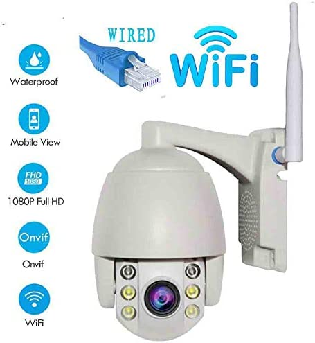 Mini Security Camera Outdoor Wireless WiFi HD Dome IP Camera 1080P 2.0MP IP66 Waterproof Onvif Day Night Full Colour CCTV Security Video Network Surveillance Camera System