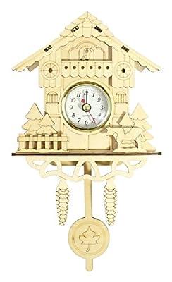 Decorative Ornamental 3D Wooden Cuckoo Clock
