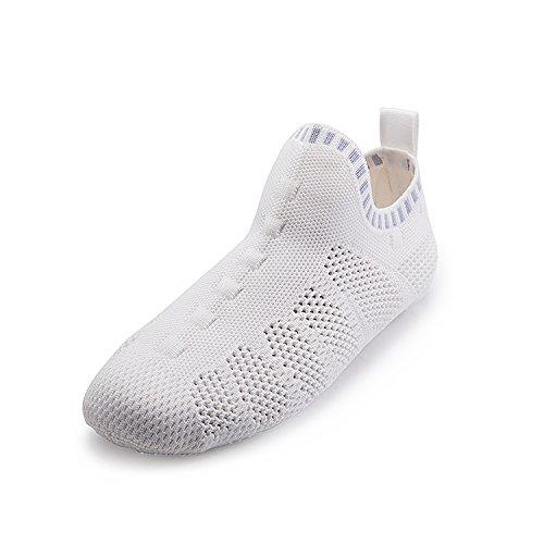 Onemix Mens Womens Sneakers Leggere Scarpe Da Trekking Outdoor Traspiranti Sneakers Sock-like C-white