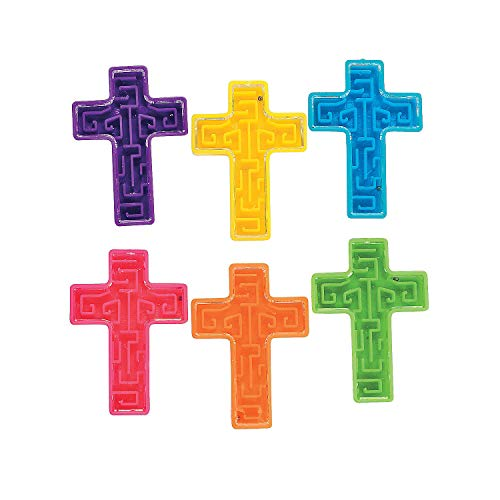 Fun Express Bright Cross Maze Puzzles (6 Dozen) -