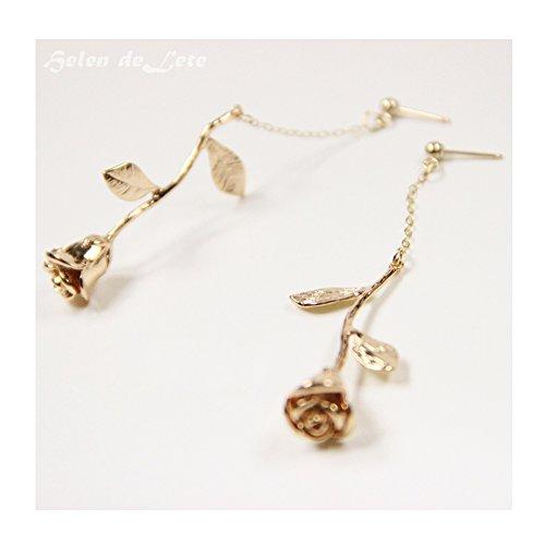 Helen De Lete Original Golden Rose 24K Gold Plated Collar Necklace