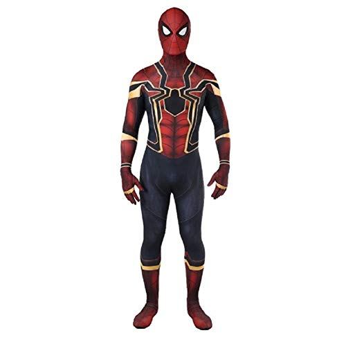 Bisika Cos Lycra Spandex Zentai Costumes, Unisex Halloween Cosplay Jumpsuit, 3D Superhero Homecoming Bodysuits -