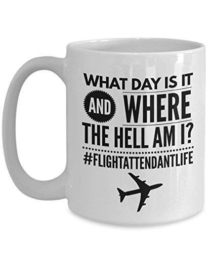 Flight Attendant Gifts - Flight Attendant Life - Funny Mug - Great Gift for Graduation from Flight School, Christmas, Birthday, (Attendant Mug)