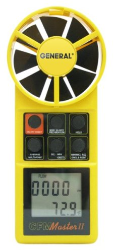 General Tools DCFM8906 Digital Air Flow Meter with CFM Display by General Tools