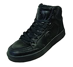 Baby Phat Joyce Womens Fashion High Top Sneakers (7.5, Black Mono Chrome)