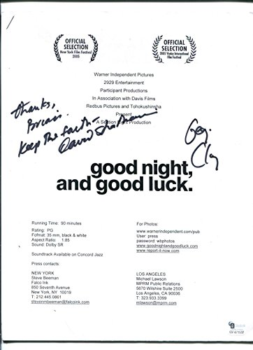 George-Clooney-David-Strathairn-Good-Night-Good-Luck-Signed-Autograph