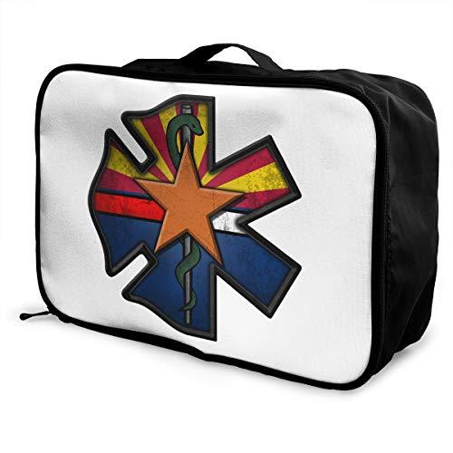 Arizona Fire Lightweight Large Capacity Portable Luggage Bag Fashion Travel Duffel Bag